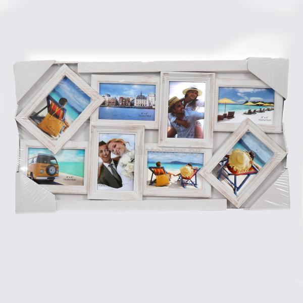 Бяла Колажна Рамка с вашите 8бр снимки - Фото Рамки