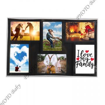 Колажна рамка с вашите  6бр снимки - Колажни  Рамки