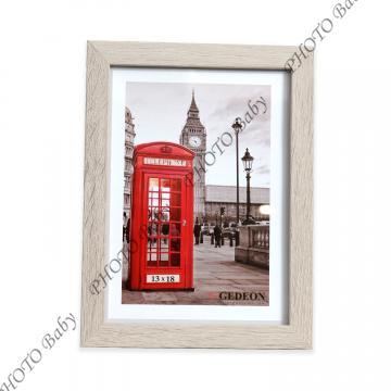 Светла дървена фото рамка - 15X20cm
