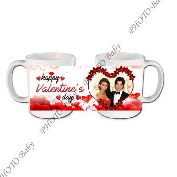 Бяла керамична  чаша със снимка или текст - Чаши със снимка, Подаръци със снимка