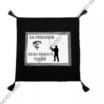 Възглавница със снимка или черен плюш  - Цветница
