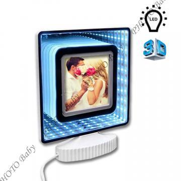 Светеща 3D рамка със снимка - Подаръци със снимка или текст, Коледа, Цветница, Великден, Тодоровден, Св.Валентин, 8-ми март